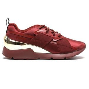 New Muse X-2 Metallic Sneakers 7 red gold